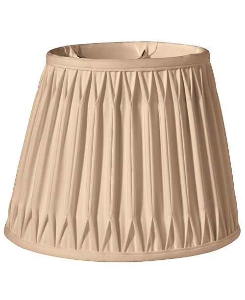 Cloth&Wire Slant Oval Double Smocked Pleat Softback Lampshade