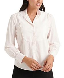 Cotton Piqué Bib Tuxedo Top