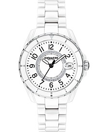 Women's Preston White Ceramic Watch, 32mm