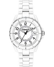 Women's Preston White Ceramic Watch, 32mm