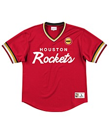 Men's Houston Rockets Special Script Mesh V-Neck Jersey