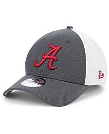 Alabama Crimson Tide Gray White Diamond Era 39THIRTY Stretch Fitted Cap