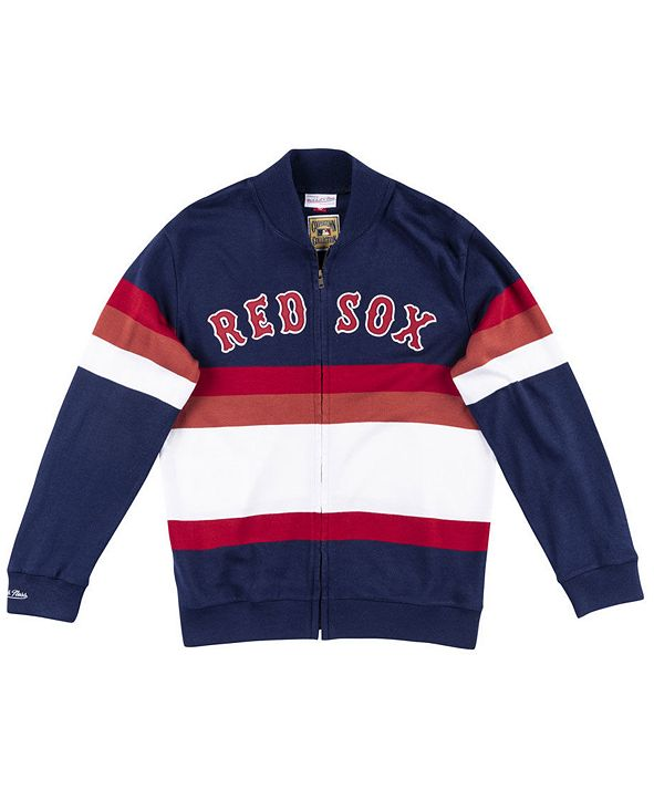 Mitchell & Ness Men's Boston Red Sox Authentic Sweater Jacket