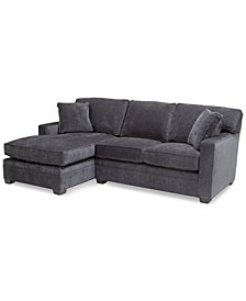 Brekton 2-Pc. Fabric Loveseat with Chaise