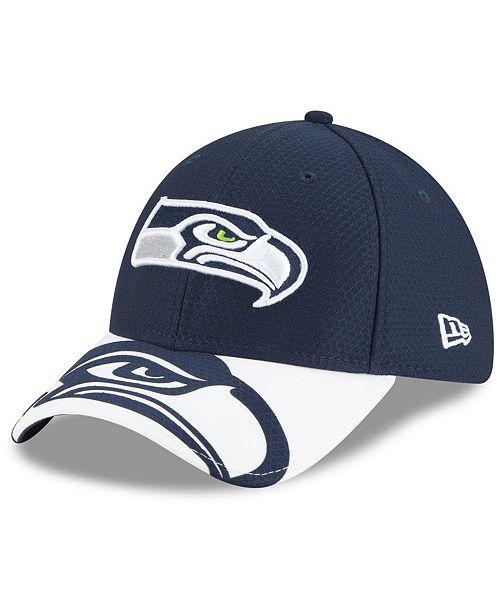 New Era Seattle Seahawks Logo Crop 39THIRTY Cap