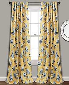 "Tania Floral 52"" x 108"" Curtain Set"
