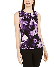 Floral Print Sleeveless Top
