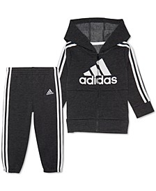 Baby Boys Fleece Hoodie & Jogger Pants Set