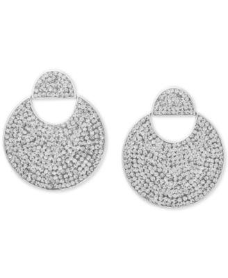 Gold-Tone Pavé Crystal Drop Earrings
