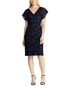 Lauren Ralph Lauren Floral Lace Dress, Created for Macy's