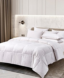 All Season White Goose Feather and Down Fiber Comforter, Twin