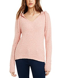 Juniors' Marled Fuzzy Pullover Hoodie