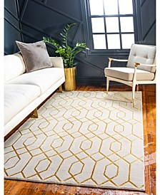 Glam Mmg001 White/Gold 8' x 10' Area Rug