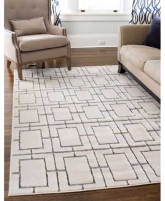 Glam Mmg002 White/Silver 5' x 8' Area Rug