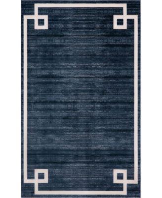 Lenox Hill Uptown Jzu005 Navy Blue 5' x 8' Area Rug