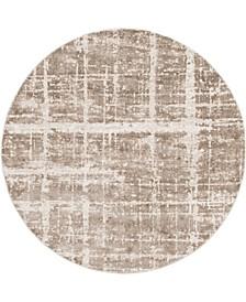 Lexington Avenue Uptown Jzu003 Light Brown 8' x 8' Round Rug
