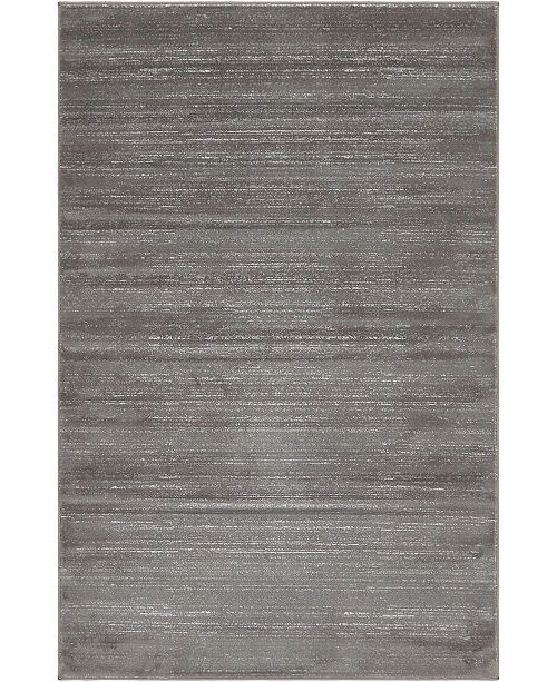 Jill Zarin Madison Avenue Uptown Jzu001 Gray 5' x 8' Area Rug