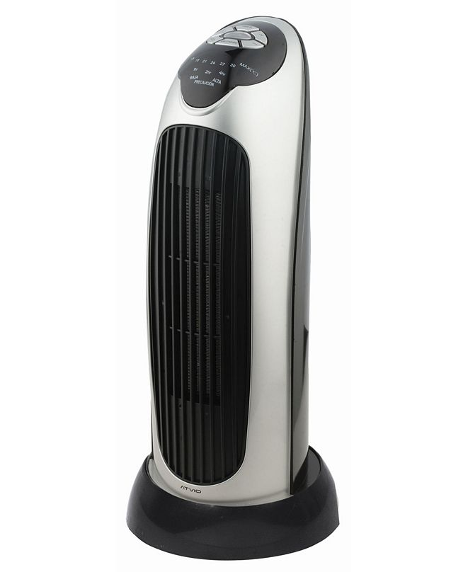 """Optimus H-7317 17"""" Oscillating Tower Heater with Digital Temperature Readout"""