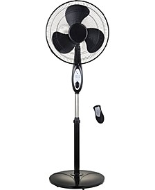 "16"" Oscillating Stand Fan with Remote Control"