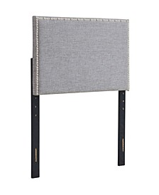 Amanda Upholstered Squared Headboard, Twin