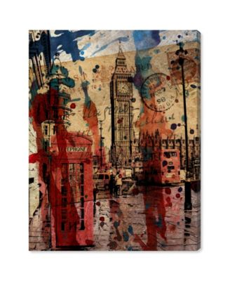 London in Red Canvas Art, 17