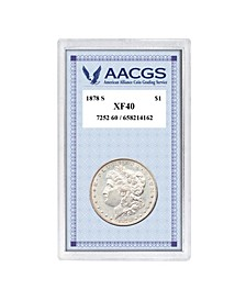 """1878s """"First-Year-Of-Issue"""" Morgan Silver Dollar Graded XF40"""
