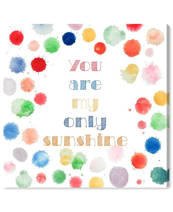 """Oliver Gal My Only Sunshine Canvas Art, 12"""" x 12"""""""