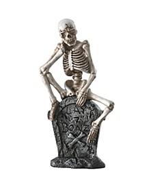 """13"""" Skeleton on Tombstone"""