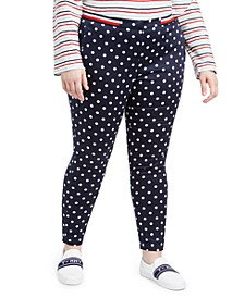 Plus Size Printed Skinny Pants