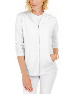 Karen Scott Hoodies ZIP-FRONT HOODIE, CREATED FOR MACY'S