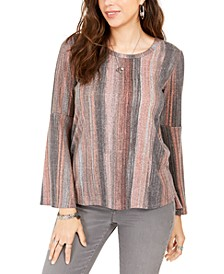 Striped Bell-Sleeve Top, Created For Macy's