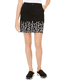 Garden Embroidered Skort, Created for Macy's