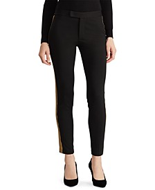 Petite Metallic-Trim Ponte Pants