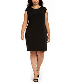 Plus Size Sleeveless Embellished Sheath Dress