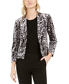Animal-Print Velvet Blazer, Created For Macy's