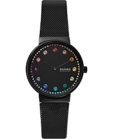 Women's Annelie Black Stainless Steel Mesh Bracelet Watch 34mm