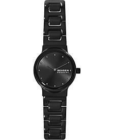 Women's Freja Black Stainless Steel Bracelet Watch 26mm