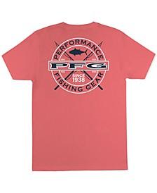 Men's Bag PFG Fishing Rod Logo Graphic T-Shirt