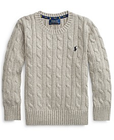 Toddler Boys Cable-Knit Cotton Sweater