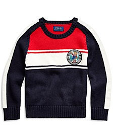 Little Boys Polo Bear Cotton Sweater, Created For Macy's