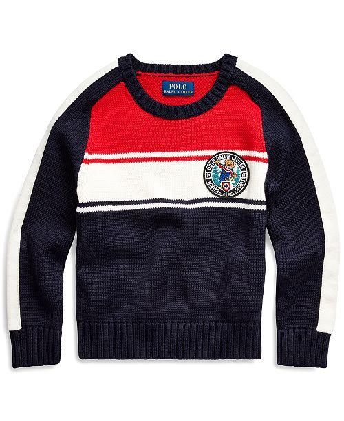 Polo Ralph Lauren Toddler Boys Polo Bear Cotton Sweater