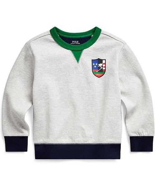 Polo Ralph Lauren Toddler Boys Downhill Skier Cotton-Blend Ponte Pullover