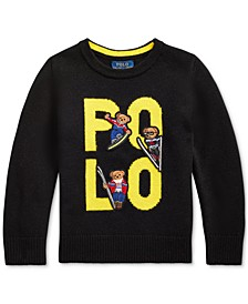 Toddler Boys Polo Bear Merino Wool Sweater