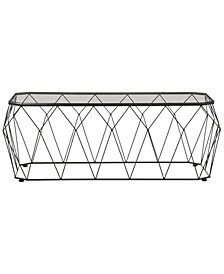 Stedal Coffee Table with Glass Tops
