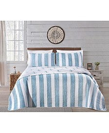Great Bay Home Casco Bay Coastal Collection Quilt Set