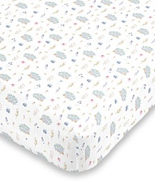 Flower and Hedgehog Crib Sheet