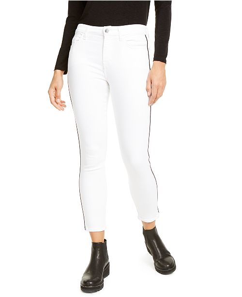 Jen7 by 7 For All Mankind Side-Stripe Skinny Ankle Jean