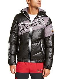 Men's Finley Logo Puffer Hooded Jacket