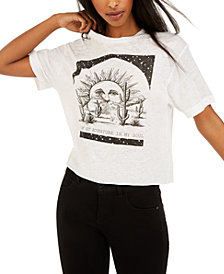 Rebellious One Juniors' Adventure Cropped Graphic T-Shirt