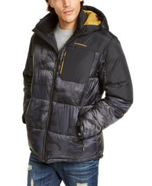 Hawke & Co. Outfitter Men's Puffer Jacket, Created For Macy's In Anthracite Camo